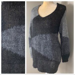 Eileen Fisher Mohair Colorblock Sweater XL